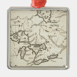 New Map of Upper & Lower Canada Christmas Ornament