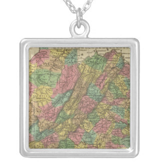 New Map Of Virginia 2 Silver Plated Necklace