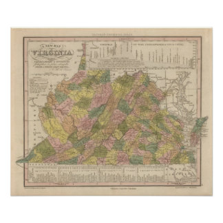New Map Of Virginia Poster