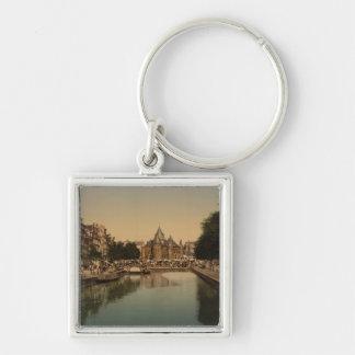New Market and Bourse Amsterdam Netherlands Keychain