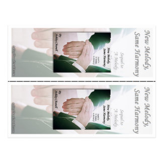 New Melody, Same Harmony -Ashley Chunell Bookmarks Postcard
