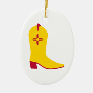 New Mexican Cowboy Boot Christmas Ornament