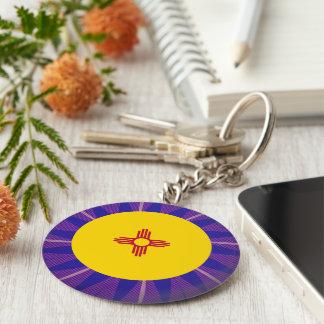 New+Mexican Flag Souvenir Basic Round Button Key Ring