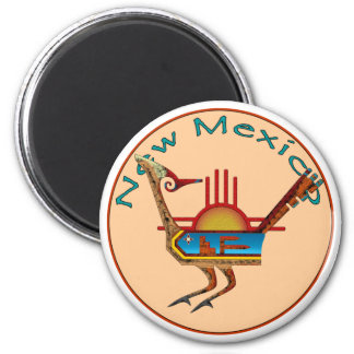New Mexico 6 Cm Round Magnet