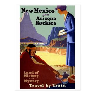 New Mexico and Arizona Rockies Vintage Travel Postcard