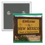 New Mexico artistic welcome sign button