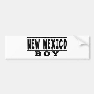 New Mexico Boy Designs Bumper Sticker