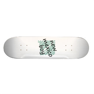 New Mexico Boy on Child s New Mexico Map Drawing Skate Deck