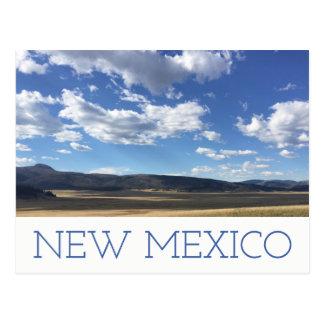 New Mexico Bright Blue Sky & Mountains Postcard