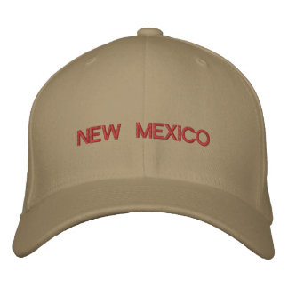 New Mexico Cap Embroidered Hats
