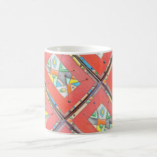 New Mexico ceramics reproduction orange cup