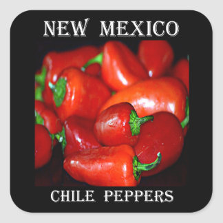 New Mexico Chili Peppers (Chile) Square Sticker