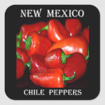 New Mexico Chilli Peppers (Chile) Square Stickers
