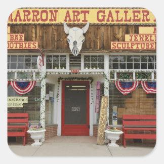 New Mexico, Cimarron. Cimarron art gallery, New Square Sticker