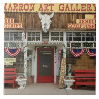 New Mexico, Cimarron. Cimarron art gallery, New Tile