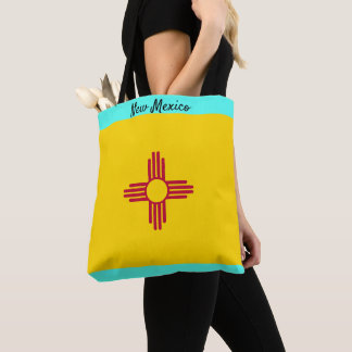 New Mexico Cloth Tote Market Bag Personalize Name