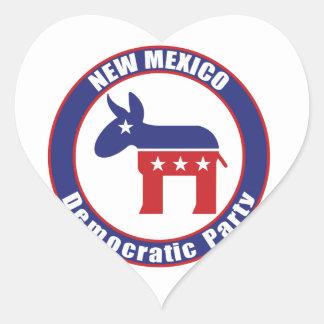 New Mexico Democratic Party Heart Sticker
