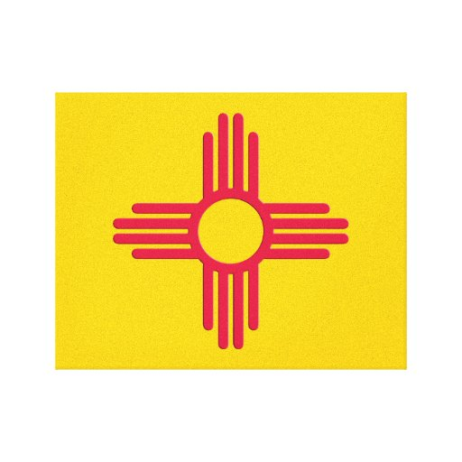New Mexico Emblem Wrapped Canvas Stretched Canvas Print