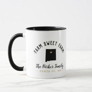 New Mexico Farm Sweet Farm Family Monogram Mug