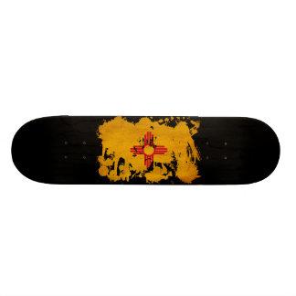 New Mexico Flag 21.6 Cm Old School Skateboard Deck