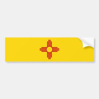 New Mexico Flag Bumper Sticker