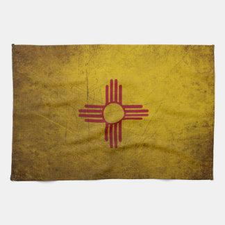 New Mexico Flag Grunge look Tea Towel