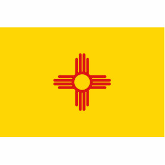 New Mexico Flag Keychain Cut Out