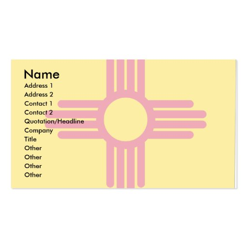 New Mexico Flag Map Double-Sided Standard Business Cards (Pack Of 100)