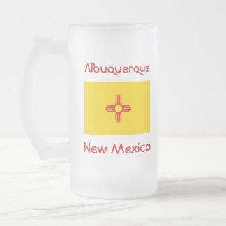 New Mexico Flag Map City Mug