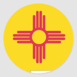 New Mexico Flag Map Classic Round Sticker