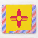 New Mexico Flag Map Mousepads