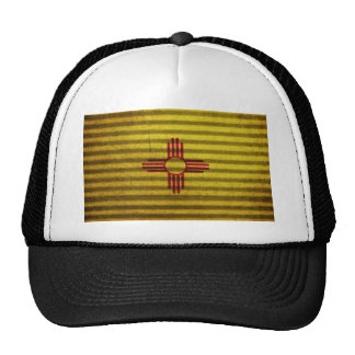 New Mexico Flag old tin roof Cap