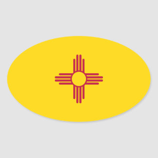 New Mexico Flag.png Oval Sticker