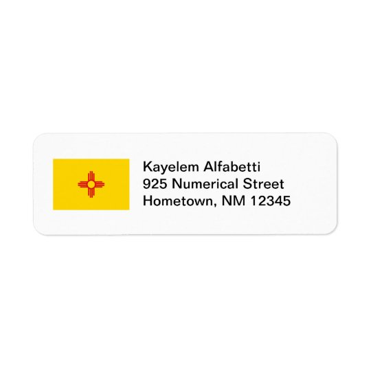 New Mexico Flag Return Address Label