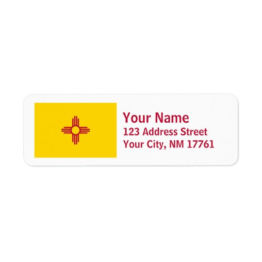New Mexico Flag Return Address Labels
