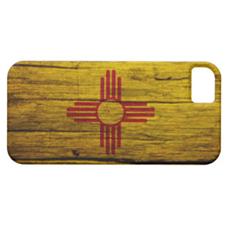 New Mexico flag rustic wood iPhone 5 Covers