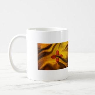 New Mexico Flag Silk waving in the wind Coffee Mug
