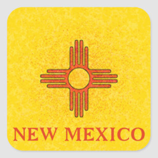 NEW MEXICO FLAG SQUARE STICKER