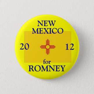 New Mexico for Romney 2012 6 Cm Round Badge