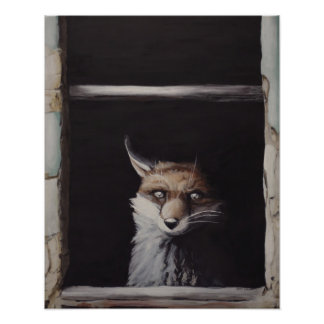 New Mexico - Fox Pop Surrealism Poster