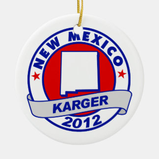 New Mexico Fred Karger Christmas Ornament