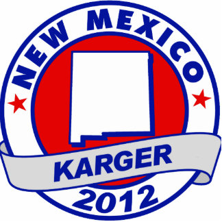 New Mexico Fred Karger Acrylic Cut Out
