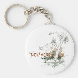 New Mexico Green Tree Keychain