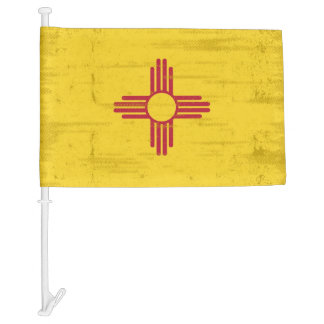 New Mexico grunge Flag. Flag of New Mexico with