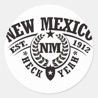 New Mexico Heck Yeah Est 1912 Round Sticker