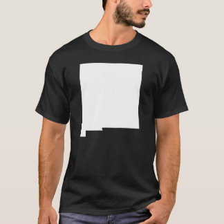 New Mexico in White and Black T-Shirt