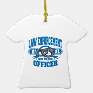 New Mexico Law Enforcement Officer Handcuffs Double-Sided T-Shirt Ceramic Christmas Ornament