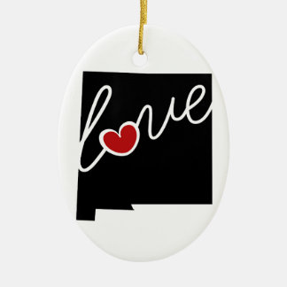 New Mexico Love!  Gifts for NM Lovers Christmas Ornament