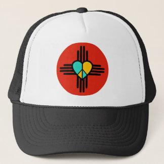 New Mexico, Love, Peace Trucker Hat