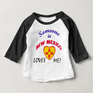 New Mexico Loves Me Heart Flag Baby T-Shirt